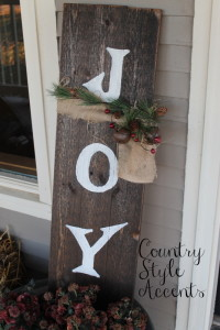 Christmas Rustic Joy Sign Country Style Accents