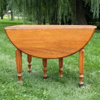 Round Wood Table.  Perfect for gifts, sign in area, set up area, or even a sweetheart table!  Qty. 1