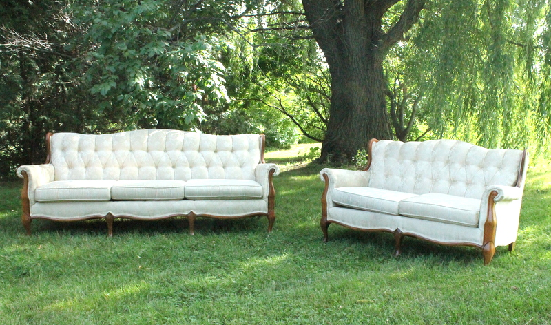 Matching Cream Loveseat
