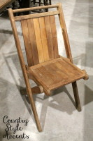 Vintage Wood Folding Chairs, Great for ceremony seating.  Qty. 14