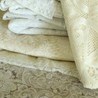 Variety of Lace, different sizes and colors Qty. 12