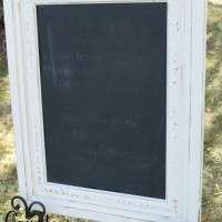 """White Floral Chalkboard 22"""" X 28"""" Qty. 1"""