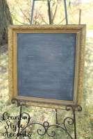 """Gold Chalkboard 22 1/2"""" X 24 1/2"""" Qty. 1"""