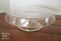Round Clear Glass Platter  Qty.1