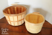 Large and Small Bushel Baskets  Qty. 8 each