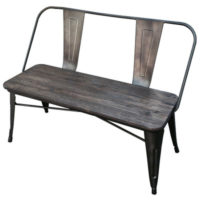 Metal and Wood Double Bench  Qty. 1