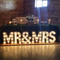 Marquee Light Up Mr. & Mrs. Sign.  8' long, plug in.