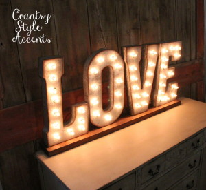 "21"" by 54"" LOVE Marquee sign"