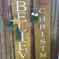 More Rustic Signs!  Merry Christmas, Believe…