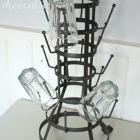 24 Iron Glass Holder.  Perfect for coffee cups or glassware.  Qty. 4