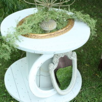 White Spool, Great for Side Table!  Qty. 1