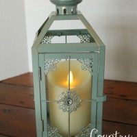 Metallic Teal Lantern  Qty. 6