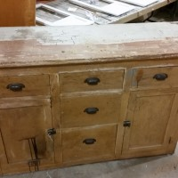 Old Kitchen Cabinet Refinished!  Before and After