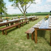Harvest Table for 'Field to Fork' Event